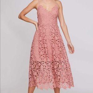 *ASTR* Lace A-Line Midi Dress